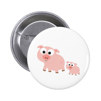 Cute Pink Pigs 2 Inch Round Button