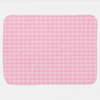 Cute Pink Plaid Baby Blanket
