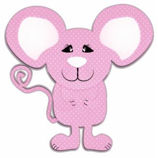 cute pink polka dot mousey mouse photo cutouts