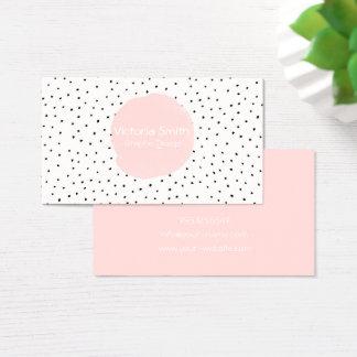 Cute Pink Polka Dots Dance Business Card