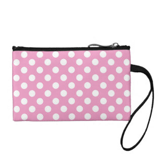 Cute Pink Polka Dots Pattern Coin Purse