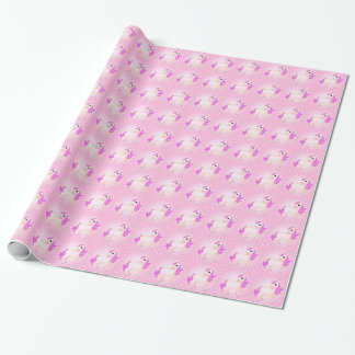 Cute Pink Pony Horse Cartoon Wrapping Paper