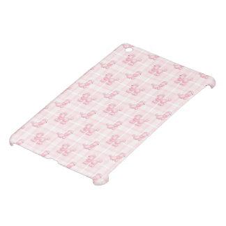 Cute Pink Poodles & Checks iPad Mini Cover