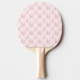 Cute Pink Poodles & Checks Ping Pong Paddle