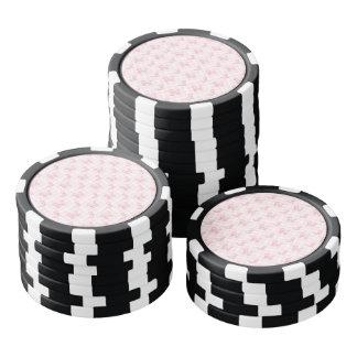 Cute Pink Poodles & Checks Poker Chips