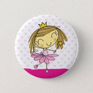 Cute Pink Princess Ballet girl 2 Inch Round Button