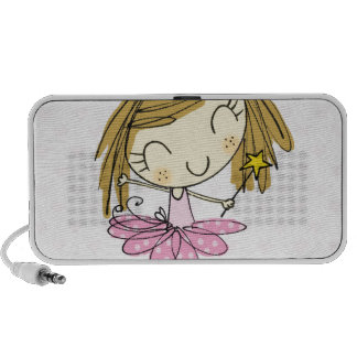 Cute Pink Princess Ballet girl Laptop Speaker