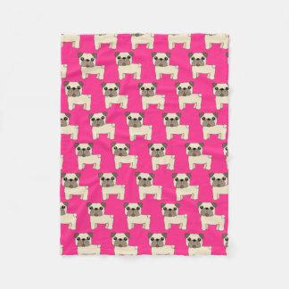 Cute Pink Pugs Blanket