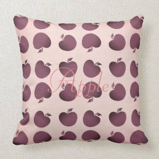 Cute Pink Purple Abstract Apple Pattern Pillow