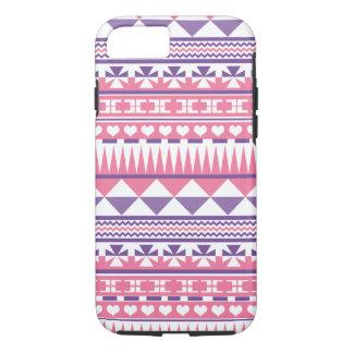 Cute Pink Purple Aztec Pattern Print iPhone 7 Case