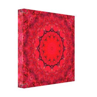Cute Pink/Red Mandala Art Canvas Print