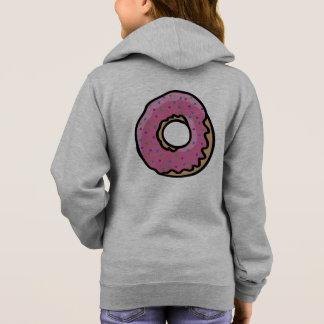 Cute pink retro  sprinkles doughnut hoodie