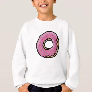 Cute pink retro  sprinkles doughnut sweatshirt