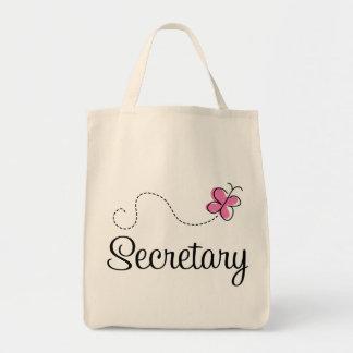 Cute Pink Secretary Grocery Tote Bag