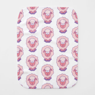 Cute Pink Sheep Burp Cloth