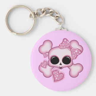 Cute Pink Skull Keychain