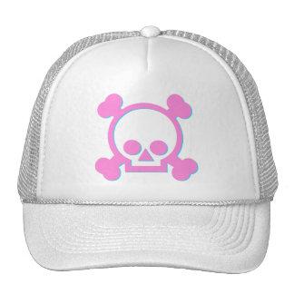 Cute Pink Skull Trucker Hat
