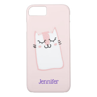 Cute Pink Sleeping Kitty Cat Case-Mate iPhone Case