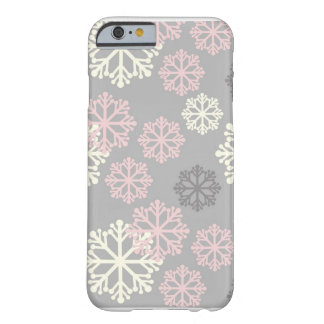 Cute Pink Snowflake Winter iPhone 6 case