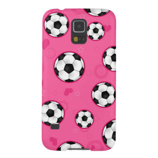 Cute Pink Soccer Star Print Galaxy S5 Cases