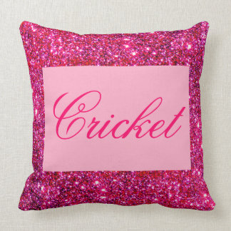 Cute Pink Sparkly Girly Glittery Sparkling Pillows