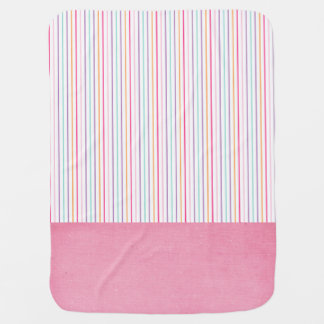 Cute Pink Stripe Baby Blanket