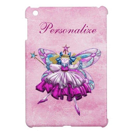 Cute Pink Sugar Plum Fairy Printed Jewel Effect iPad Mini Case