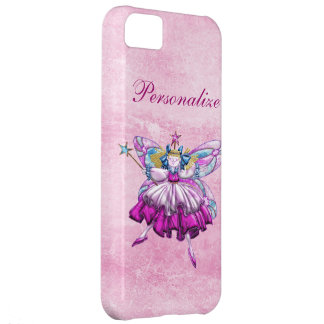 Cute Pink Sugar Plum Fairy Printed Jewel Effect iPhone 5C Covers