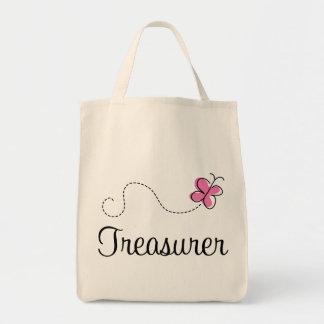 Cute Pink Treasurer Tote Bag