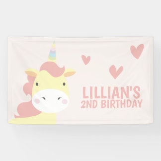 Cute, Pink Unicorn Banner