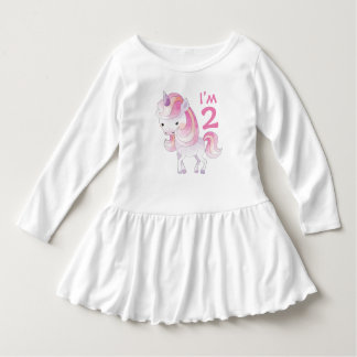Cute Pink Unicorn with Child's Age Dress
