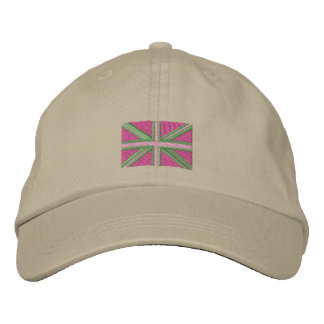 Cute Pink Union Jack Cap Embroidered Baseball Cap