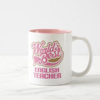 Cute Pink Worlds Best English Teacher Mug