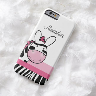 Cute Pink Zebra Print iPhone 6 Case