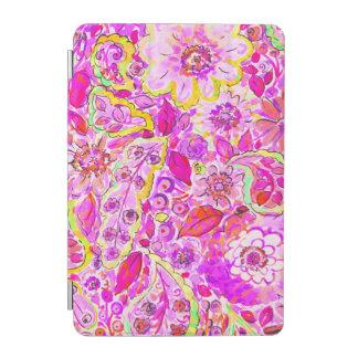 Cute pinky abstract flowers iPad mini cover