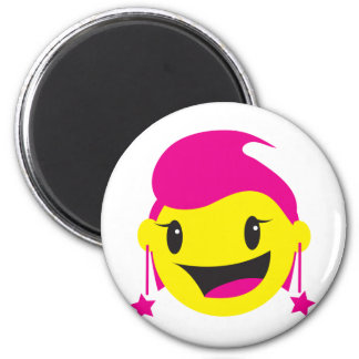 CUTE pinky girl SMILEY Refrigerator Magnet