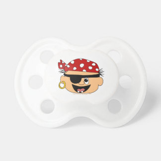 Cute Pirate Baby Red Bandanna Binkie for Babies Pacifier