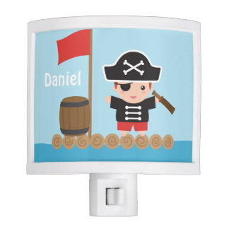 Cute Pirate Captain Ocean Raft Boys Room Decor Nite Lights