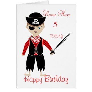 Cute Pirate Child s Personalised Birthday Card