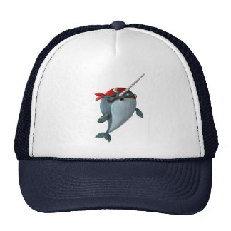 Cute Pirate Narwhal Trucker Hat
