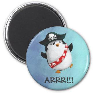 Cute Pirate Penguin 2 Inch Round Magnet
