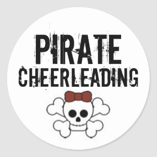 cute pirate, Pirate, Cheerleading Classic Round Sticker