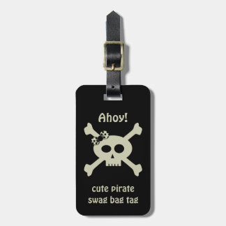 Cute Pirate Swag Bag Tag Personalized Luggage Tag