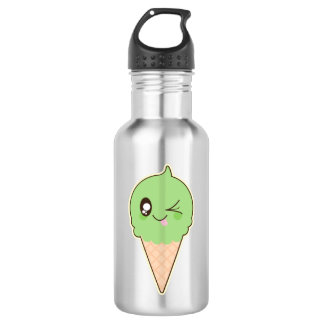 Cute Pistachio Ice Cream Cone 532 Ml Water Bottle
