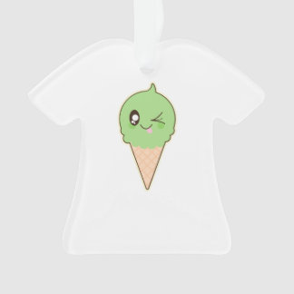 Cute Pistachio Ice Cream Cone Ornament