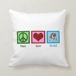 Cute Pit Bull Throw Pillow
