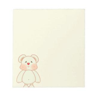 Cute Pixel Drawing Bear Notepad