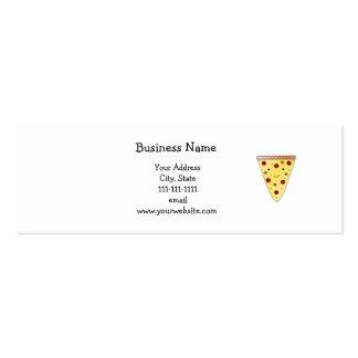 Cute pizza business card