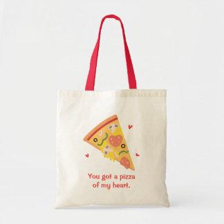 Cute Pizza of my Heart Pun Love Humor