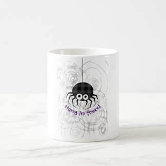 Cute Plaid Black Spiders and Curly Web Coffee Mug